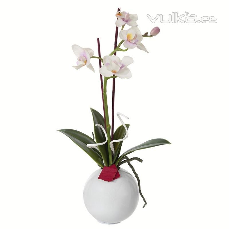 Foto arreglo floral orquideas artificiales blancas con for Orquideas artificiales