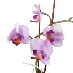 Arreglo floral orquideas artificiales lilas con maceta 1 - la llimona home