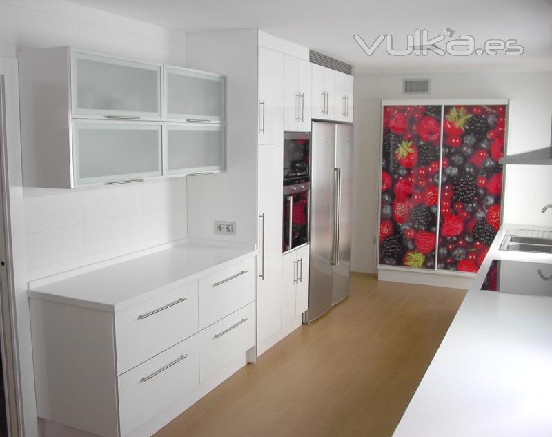 Foto cocina formica blanca - Muebles de cocina de formica ...