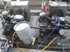 Carga de gas de cámaras frigoríficas