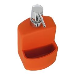 Cocina. dosificador cocina cerámica flocat naranja con estropajo 2 - la llimona home