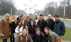 Estudiantes de SLU Madrid en una excursión a Bruselas