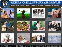 Quirino brokers - seguros que comercializamos relacionados con pensiones, vida, accidentes, etc..