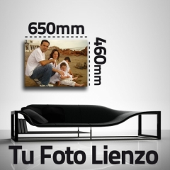 Lienzo impreso con tu foto de 650 x 460mm con bastidor de 3.5 cm.