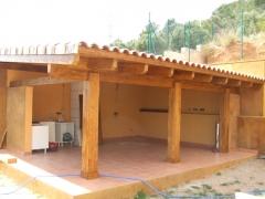 Porche madera laminada