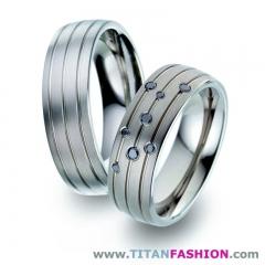 Alianzas de boda de titanio