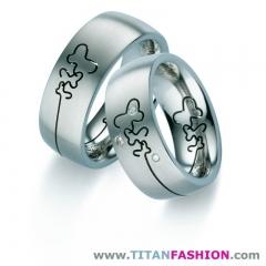 Alianzas de boda de titanio - titan fashion