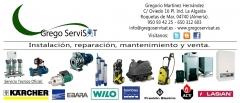 GREGO SERVISAT. Instalaciones, reparaciones y mantenimientos. SAT Karcher, Ebara, Wilo. Almer�a