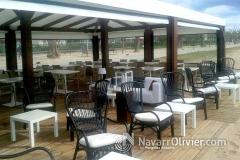 Terraza cubierta desmontable para chiringuito. www.navarrolivier.com