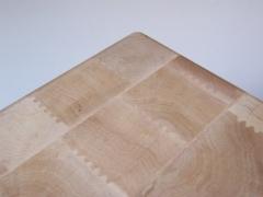 Detalle de tajo de madera de encina