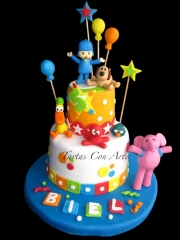 Www.tartasconarte.com tarta pocoyo decorada y personalizada con fondant