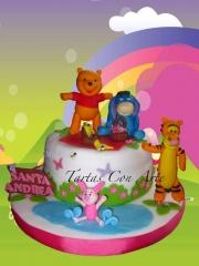 Www.tartasconarte.com tarta winnie the pooh personajes de fondant