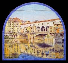 Ponte Vecchio, Florencia. Mural de azulejos rústicos 90x75cm.