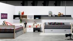 Mueble juvenil moderno con unos tiradores muy originales en varios colores