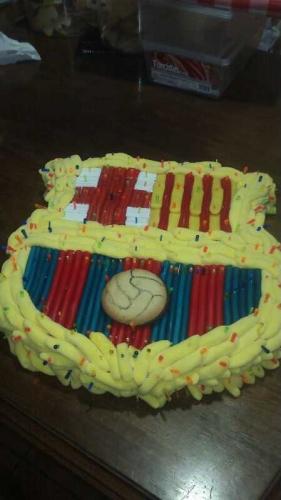 Tarta de gominolas para los fans del Bar�a