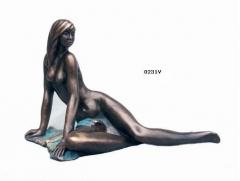 Figura sueño, con acabos en bronce. lluís jordà.