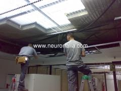 Instalaci�n de techos con necesidades especiales.