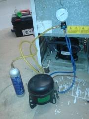 Carga de gas de frigor�ficos