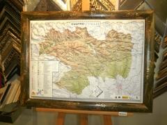Mapa en relieve - kanya enmarcaci�n