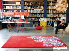 Complementos en diagonal. todo tipo de textiles: alfombras, cortinas, servilletas, toallas, etc.
