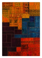 Alfombra patchwork, hechas a mano