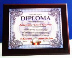 Diploma personalizado en metal