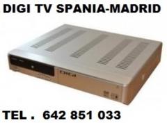 DIGI TV CU ABONAMENT SPANIA MADRID ANTENE PARABOLICE