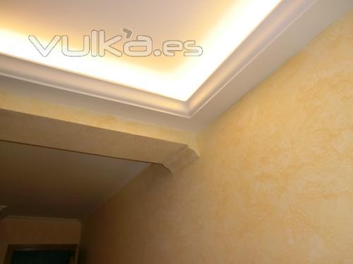 Foto colocacion de moldura para luz indirecta - Cornisas para luz indirecta ...