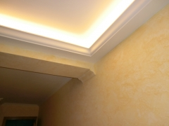 Colocacion de moldura para luz indirecta