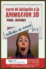 Curso de iniciación a la animación 3D para jóvenes