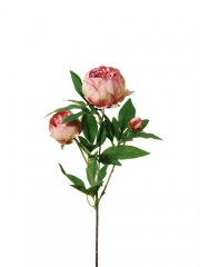 Flores artificiales peonias rosas flores oasis decor