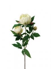 Flores artificiales peonias crema flores oasis decor