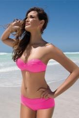 Bikini bandeau rosa futsia antigel by lise charmel +info www.lenceriaemi.com