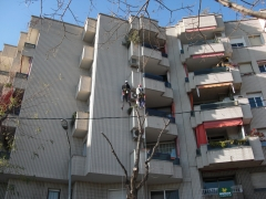 Rehabilitaci�n de fachada. c/ cartagena, barcelona