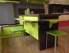 Muebles de cocina color pistacho