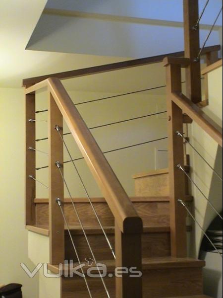 Pesquer escaleras y barandillas - Barandillas de madera ...