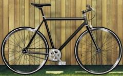 bicicleta fixie moma negra