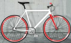 bcicletas fixie moma bikes, blanca-roja