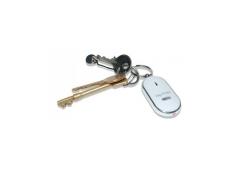 El buscador de llaves con luz intermitente emiten un sonido y tiene un silbato buscador.