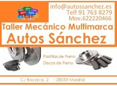 TALLER MECANICO MADRID  PASTILLAS DE FRENO
