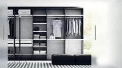 Composicion de un vestidor para el dormitorio