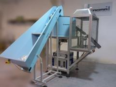 Unidad de flameado con sus 3 fases: elevador, vibrador y flameador