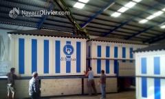 Carga para transporte de chiringuitos desmontables de madera. www.navarrolivier.com