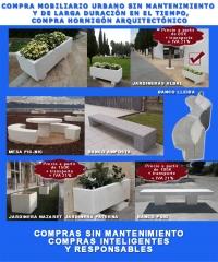 Martín Mena® dispone de mobiliario urbano en hormigón arquitectónico.