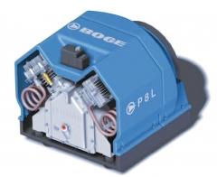Compresores de pist�n de baja potencia (de 2.2 a 5.5 kw) exentos de aceite o lubricados.