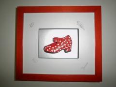 Zapato de flamenca en miniatura - Kanya Enmarcación