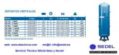 Dep�sitos o calderines verticales en Lorca en Sedel Aircomp Systems