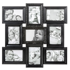Portafotos multiple magic negro 10x15 9 fotos - la llimona home