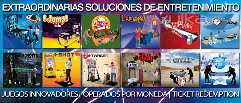 Maquinas recreativas, recreativos, redemption, boleras, infantiles, kiddies rides | www.focse.com