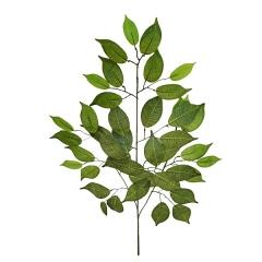 Plantas artificiales. rama hojas ficus artificiales verde claro 60 - la llimona home
